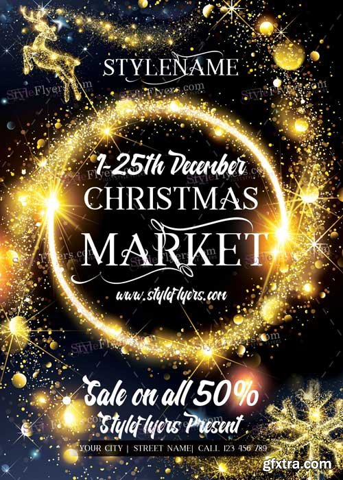 Christmas Market PSD V12 Flyer Template