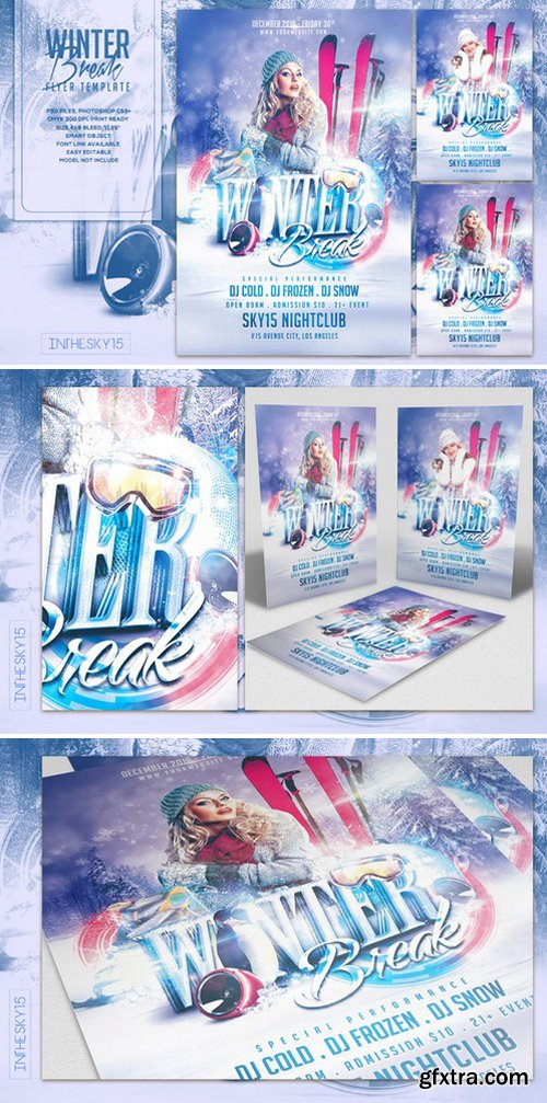 CM - Winter Break Flyer Template 1020282