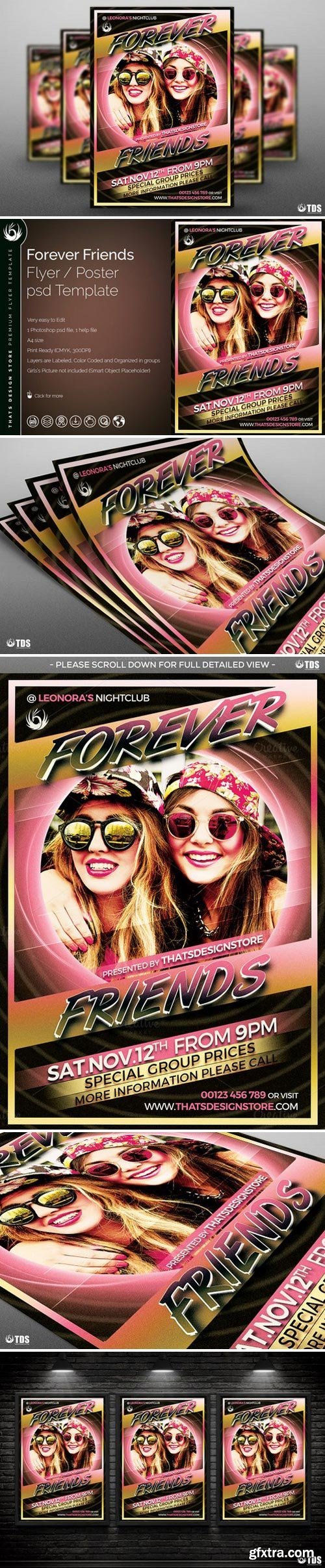 CM - Forever Friends Flyer Template 792498