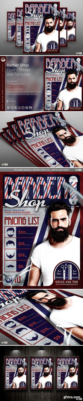 CM - Barber Shop Flyer Template 576298