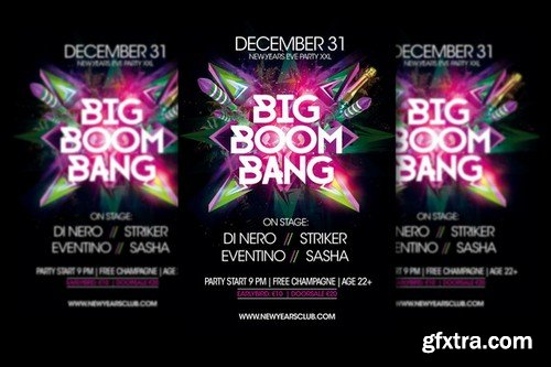 CM - Big Boom Bang New Years Party Flyer 947795
