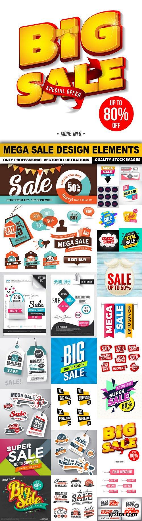 Mega Sale Design Elements - 25 Vector