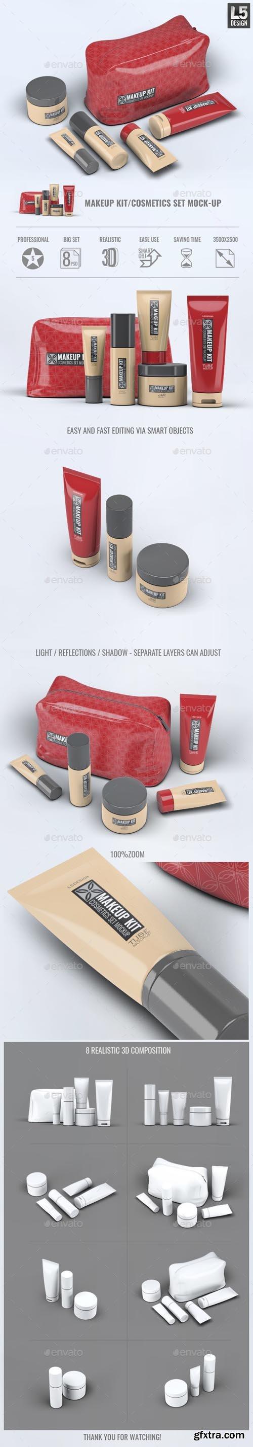 GR - Makeup Kit Cosmetics Set Mock-Up 13495174