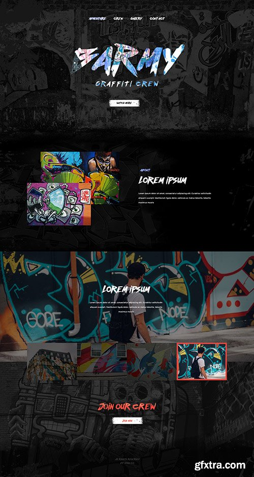 PSD Web Template - Barmy - Stylish And Modern One Page PSD Template
