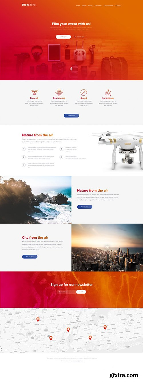 PSD Web Template - Drone Zone - Page For Drones And Technology