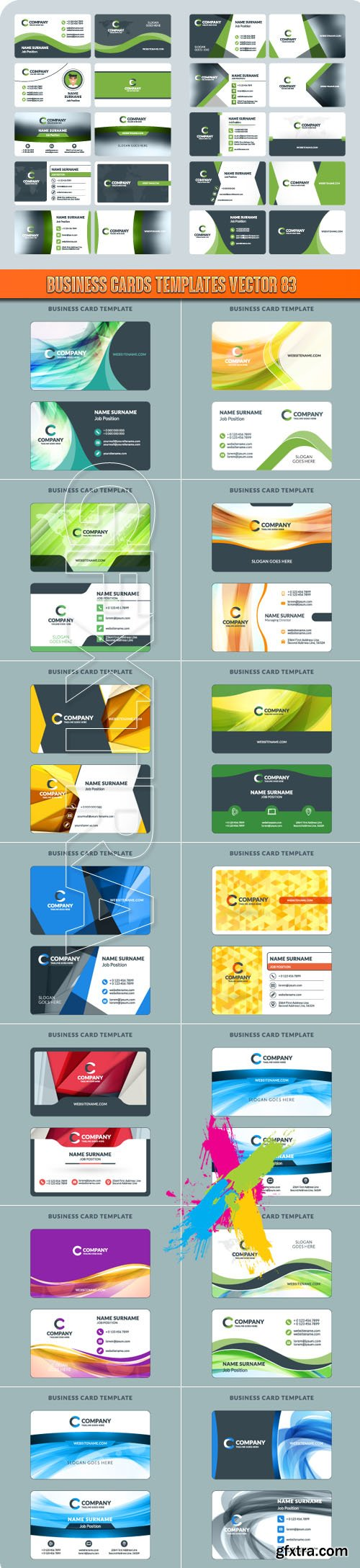 Business Cards Templates vector 83
