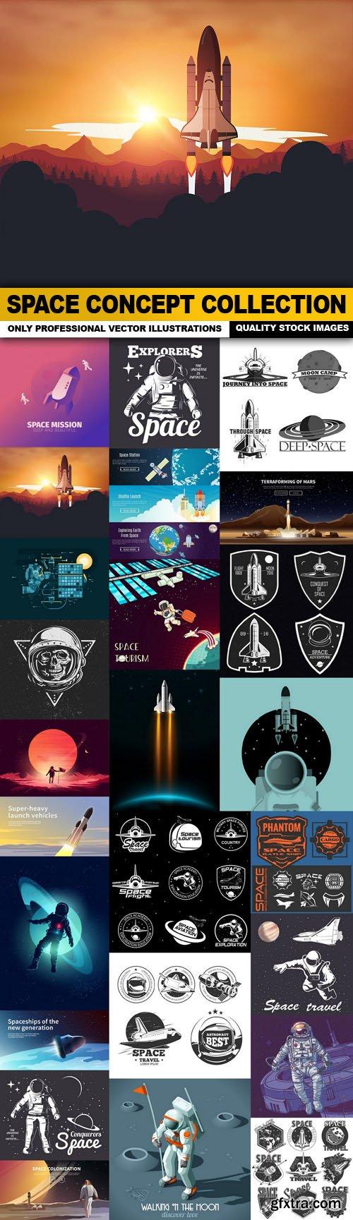 Space Concept Collection - 25 Vector