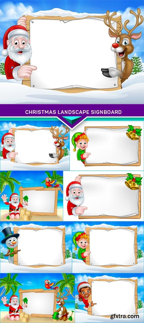 Christmas Landscape Signboard 8X EPS