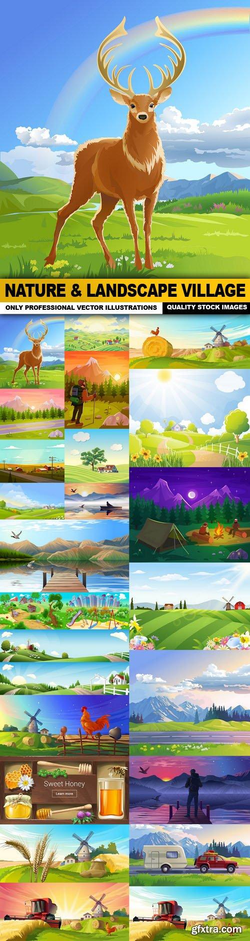 Nature & Landscape Village - 25 Vector