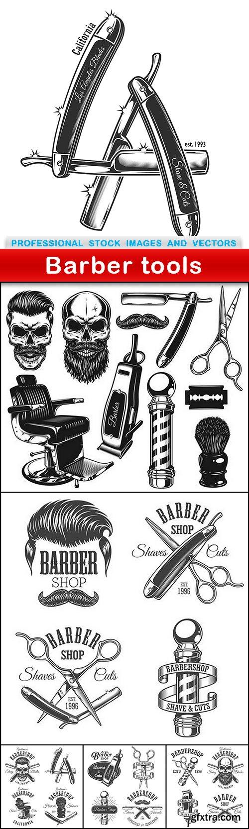 Barber tools - 6 EPS