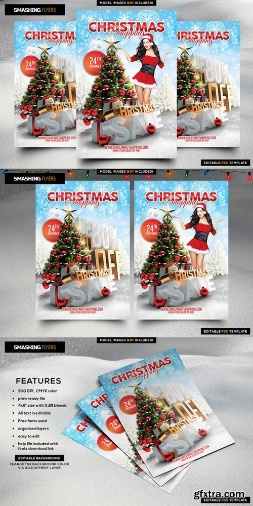 CM - Christmas Shopping Flyer Template 982365