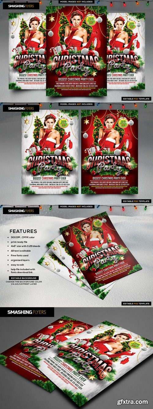 CM - Christmas Party Flyer Template 982553