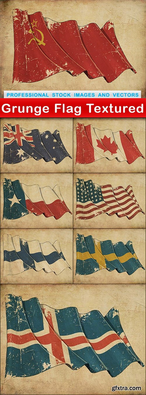 Grunge Flag Textured - 8 UHQ JPEG