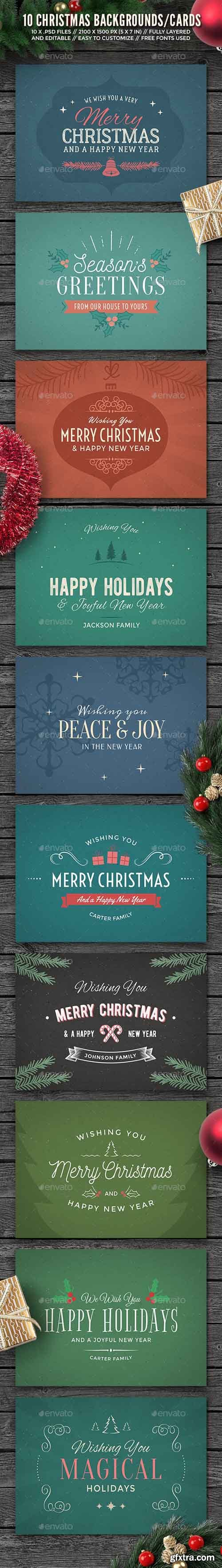 GR - 10 Christmas Backgrounds/Cards 13905872