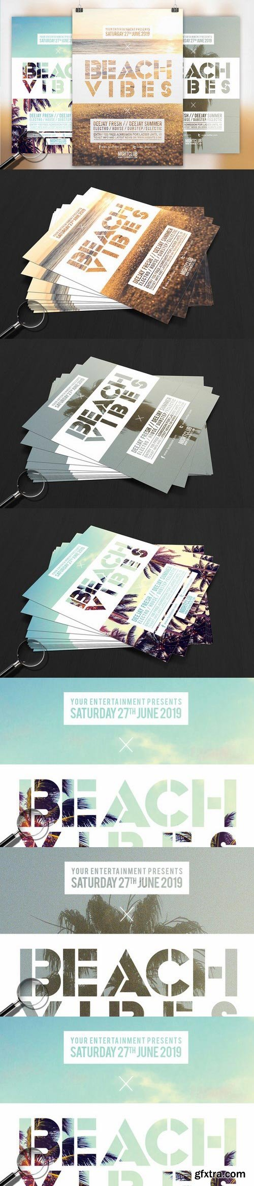 CM - Beach Vibes | 3in1 Flyer Template 753420
