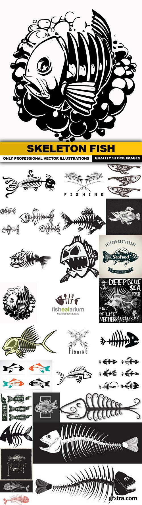 Skeleton Fish Bone Fish - 25 Vector
