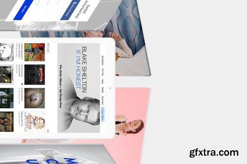 Floating iPad Screen Mockup