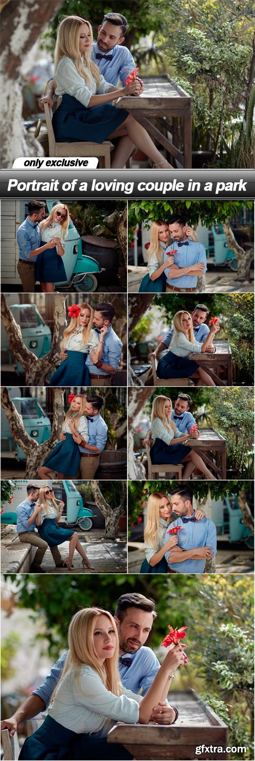 Portrait of a loving couple in a park - 9 UHQ JPEG