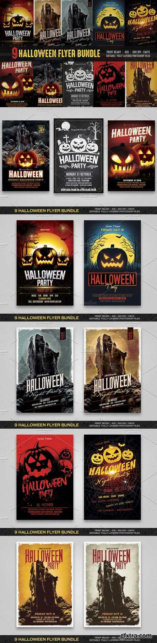 CM - Halloween Flyer Bundle 916585