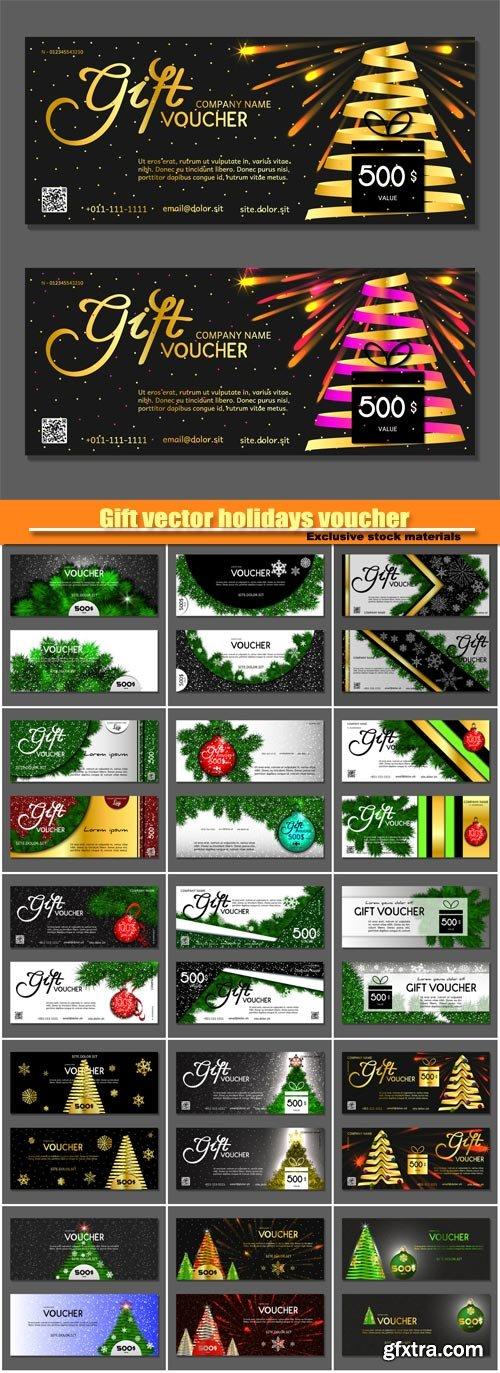 Gift vector holidays voucher