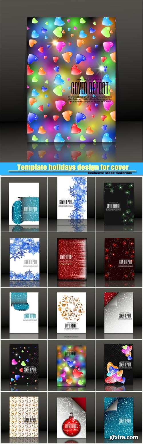 Template holidays design for cover, abstract vector background