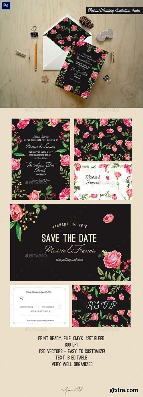GR - Floral Wedding Invitation Suite 13253040
