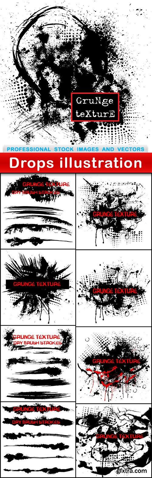 Drops illustration - 9 EPS