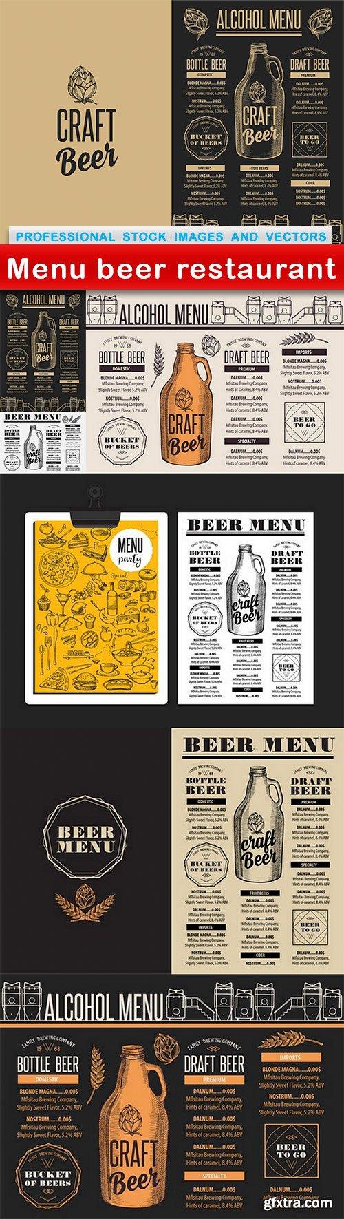 Menu beer restaurant - 7 EPS