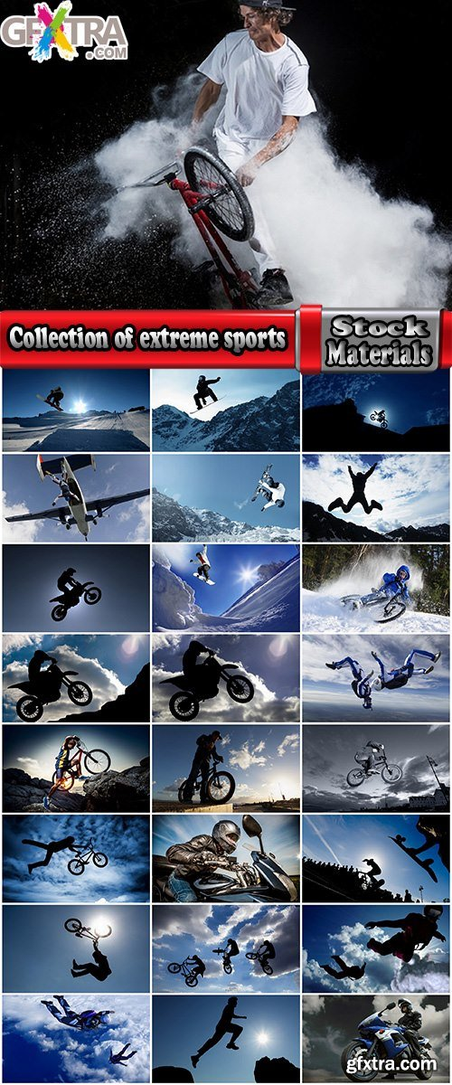 Collection of extreme sports bike motorcycle skydiving snowboarding mountain bike 25 HQ Jpeg