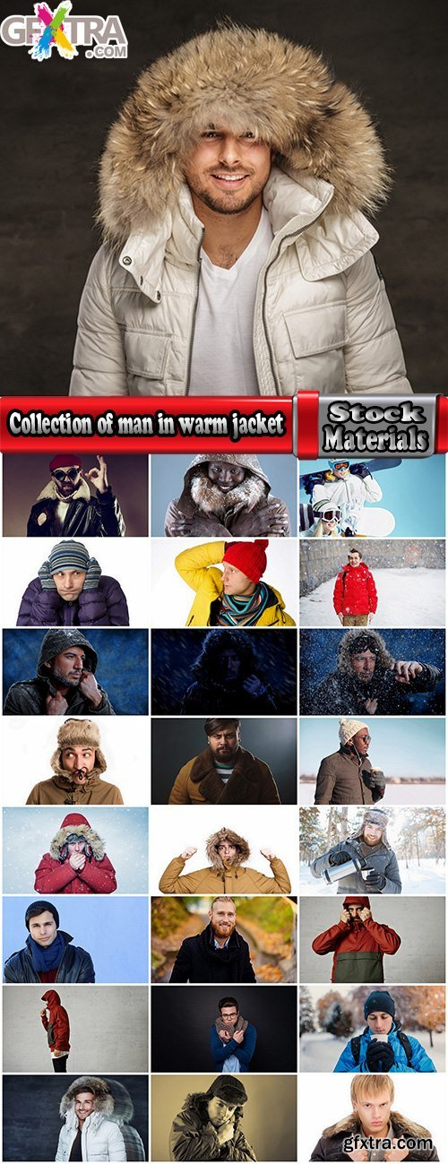 Collection of man in warm jacket clothes 25 HQ Jpeg