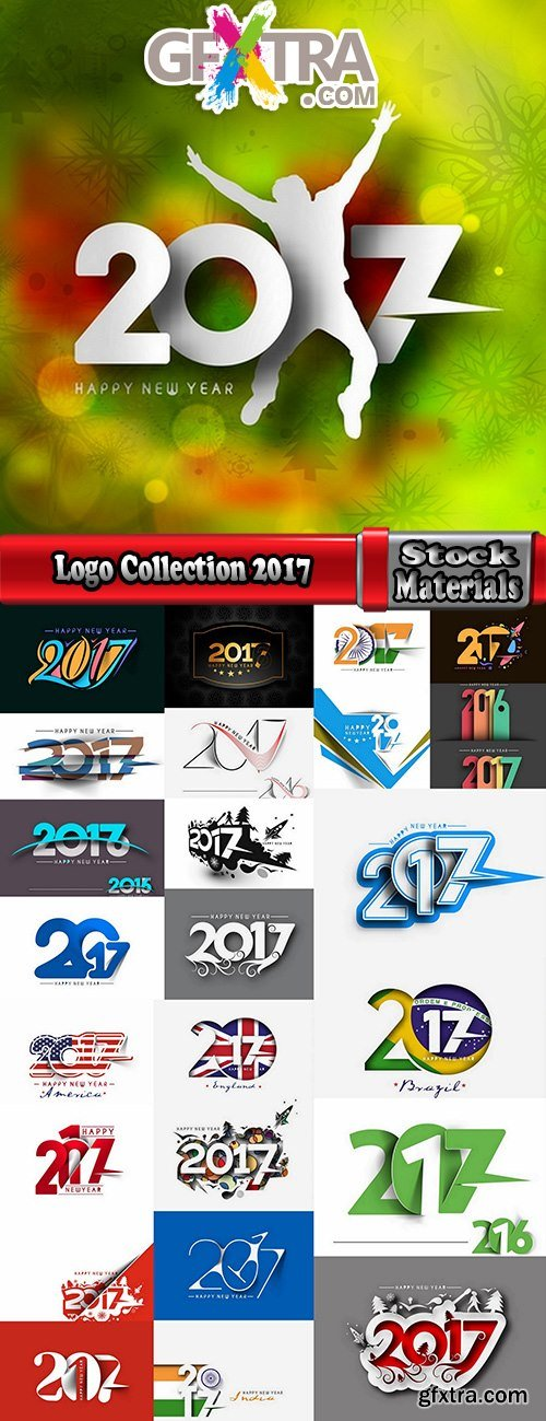 Logo Collection 2017 flyer new year banner Christmas banner flyer 25 EPS