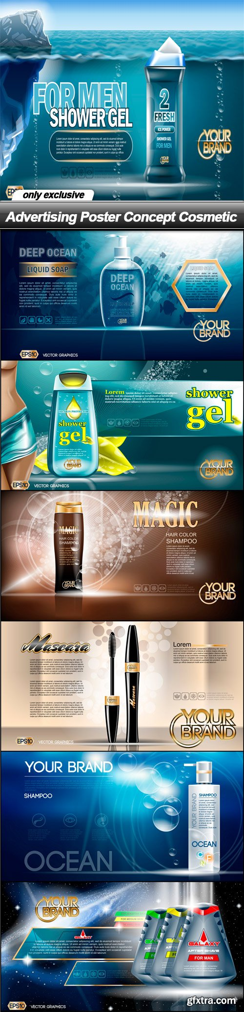 Advertising Poster Concept Cosmetic - 7 EPS