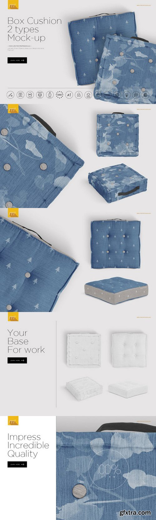 CM - Box Cushion 2 Types Mock-up 735369