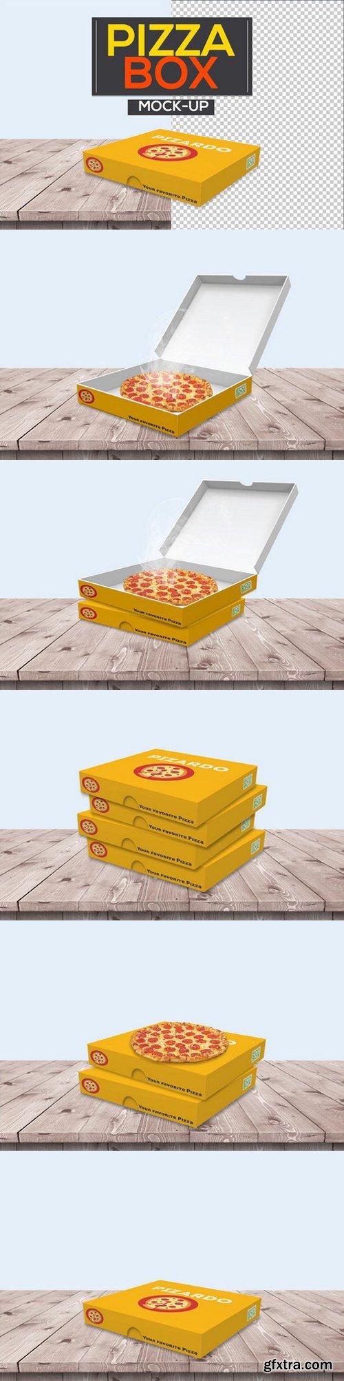 CM - Pizza Box Packaging Mock-Ups 1045134