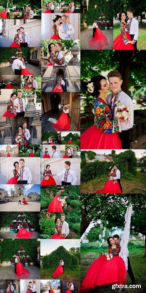 Beautiful ukranian wedding couple