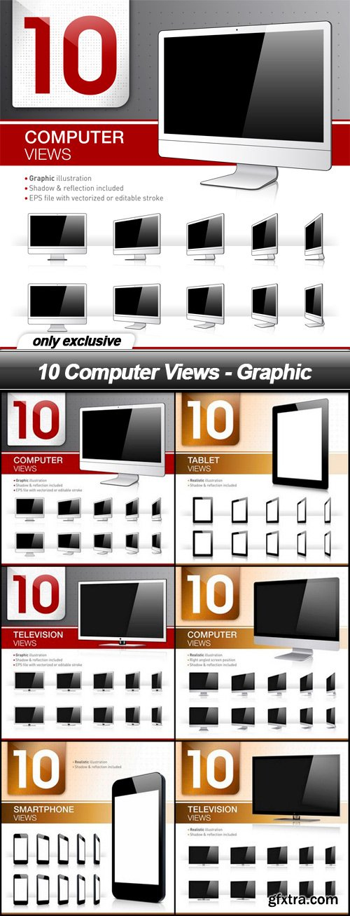 10 Computer Views - Graphic - 6 EPS
