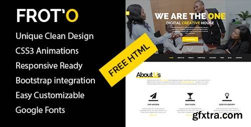 Froto – HTML5 Responsive Agency Template