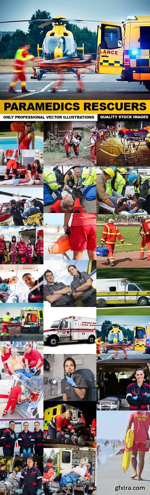 Paramedics Rescuers - 25 HQ Images