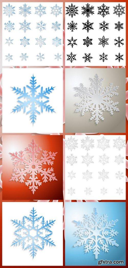 Snowflakes set 8X EPS