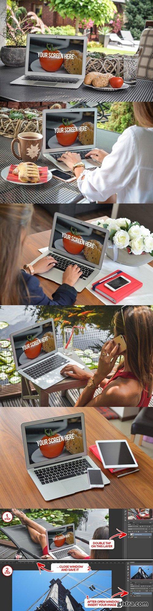CM - 10 Mockups MacBook (pics+PSD) 1053232
