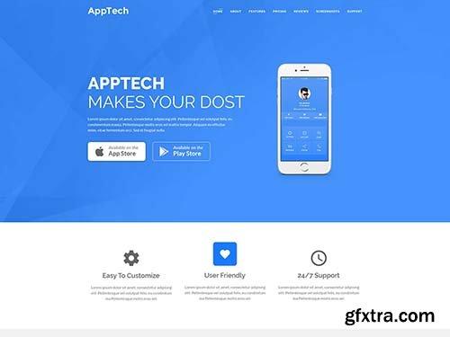 AppTech – App Landing PSD Template