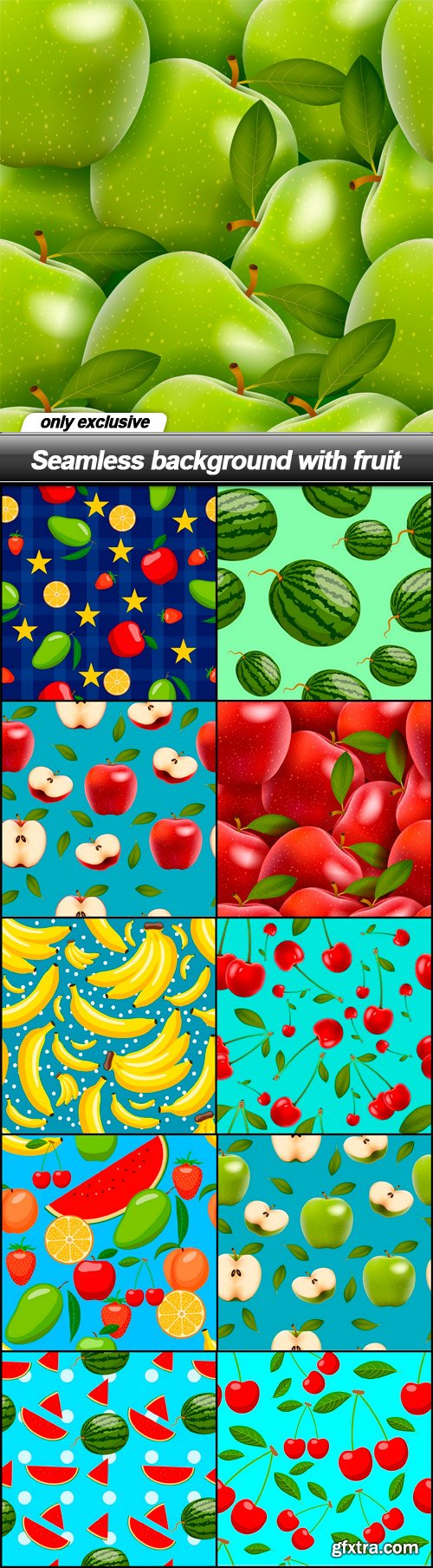 Seamless background with fruit - 11 EPS