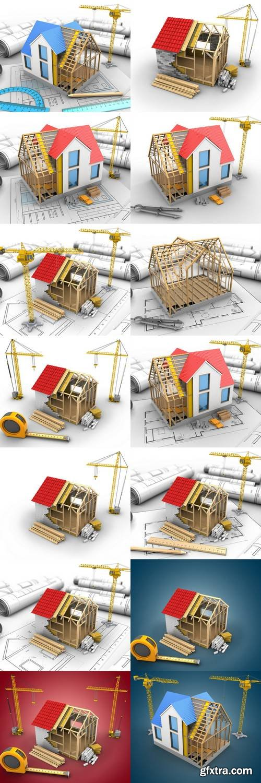 House Structure - 3D Illustration