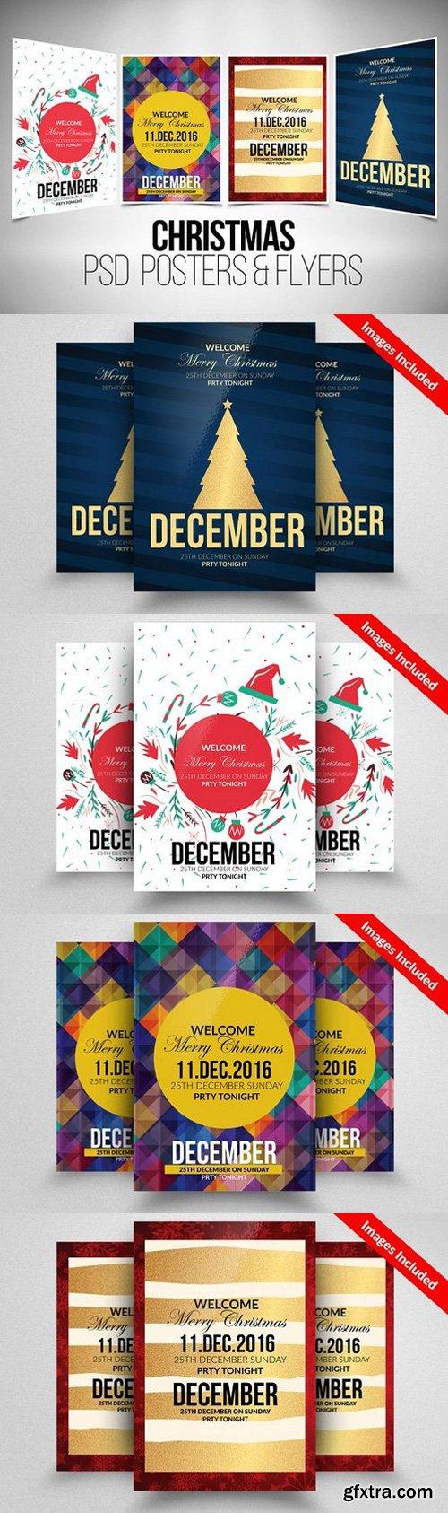 CM - 4 Christmas Flyer Template Bundle 928716