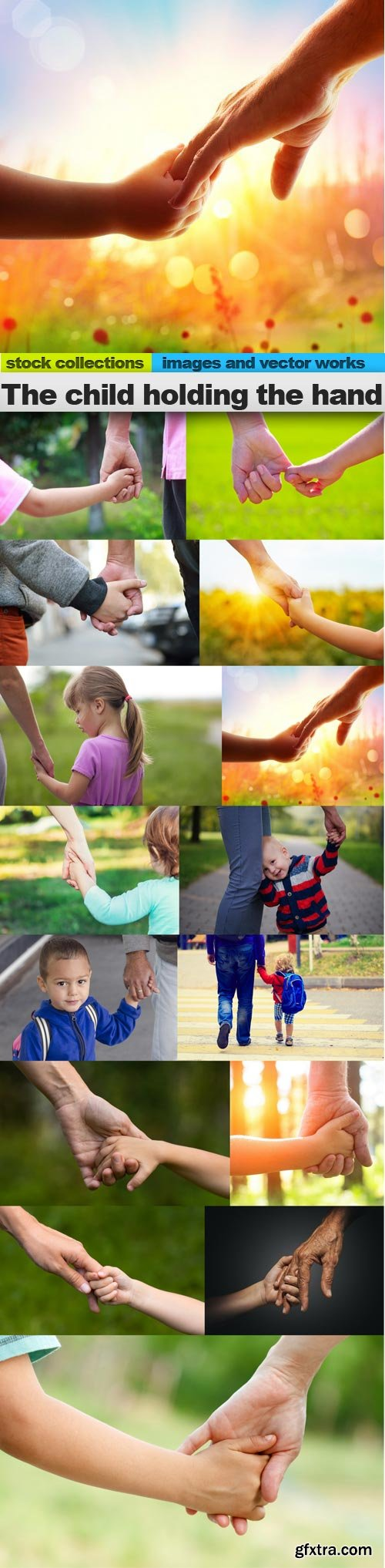 The child holding the hand, 15 x UHQ JPEG