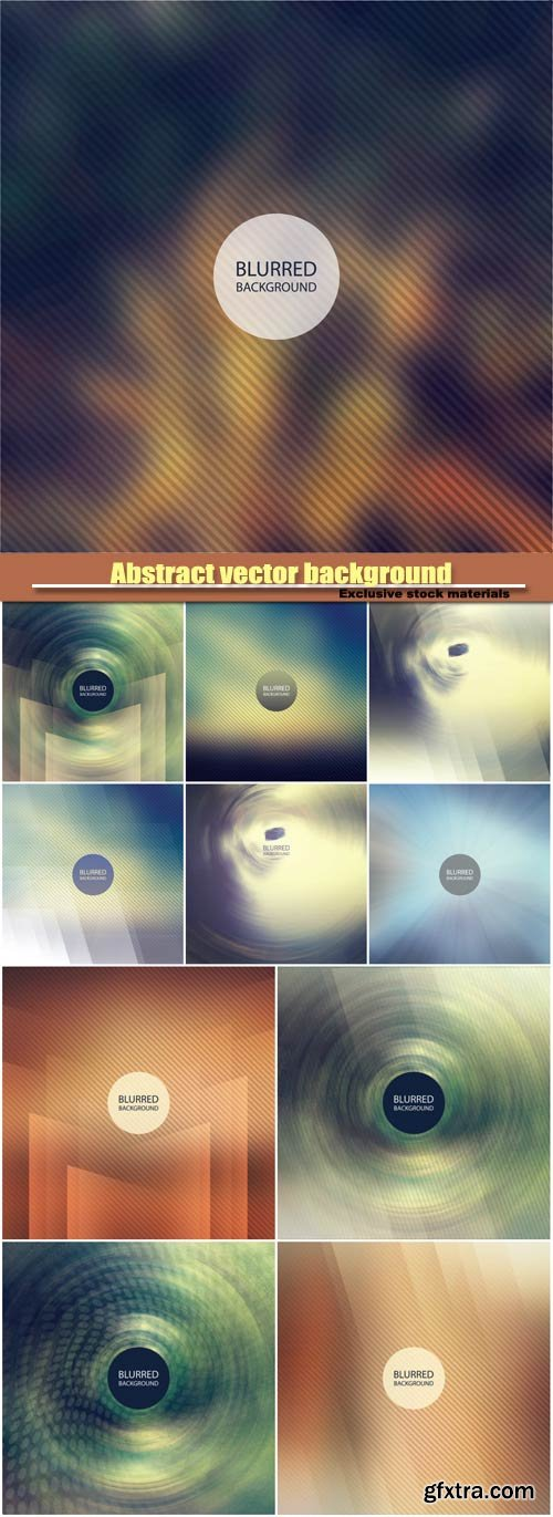 Abstract vector background with a blur effect