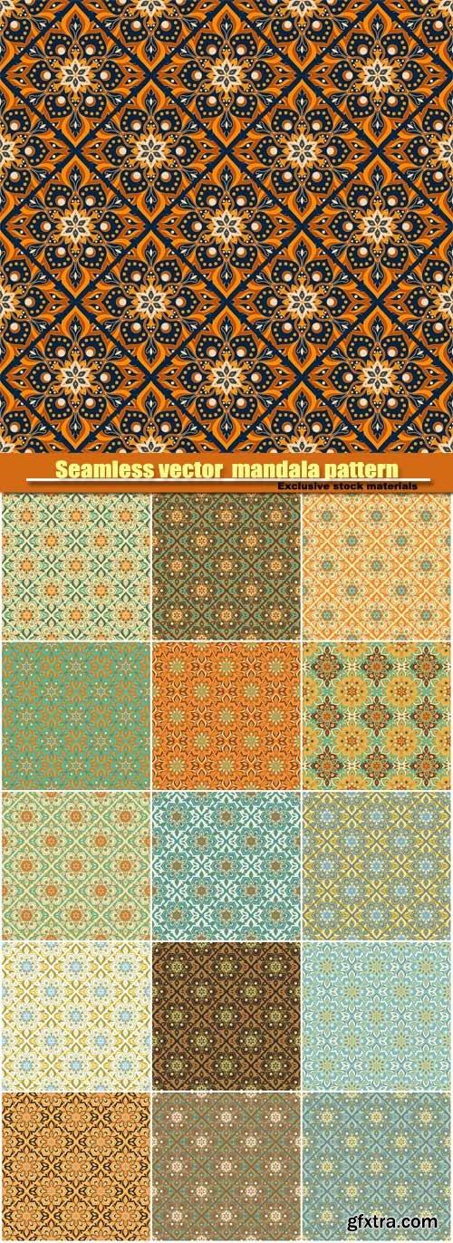 Seamless vector hand drawn mandala pattern
