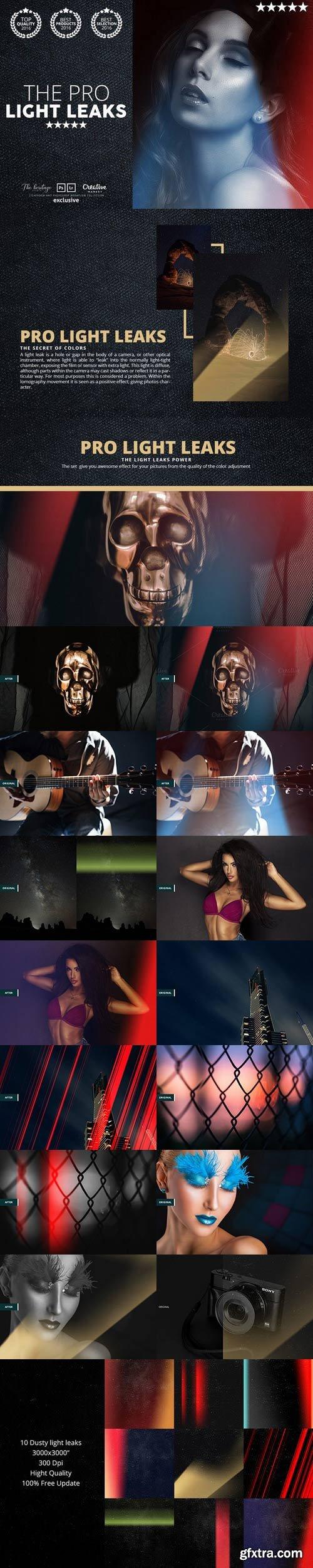 CM - Pro LIGHT LEAKS 95 Photoshop Bundle 1083452