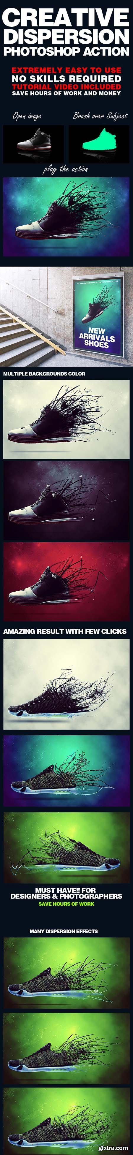 GraphicRiver Creative Dispersion Photoshop Action 18634115