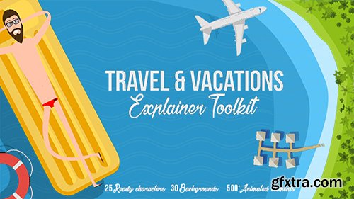Videohive Travel & Vacations Explainer Toolkit 17339134